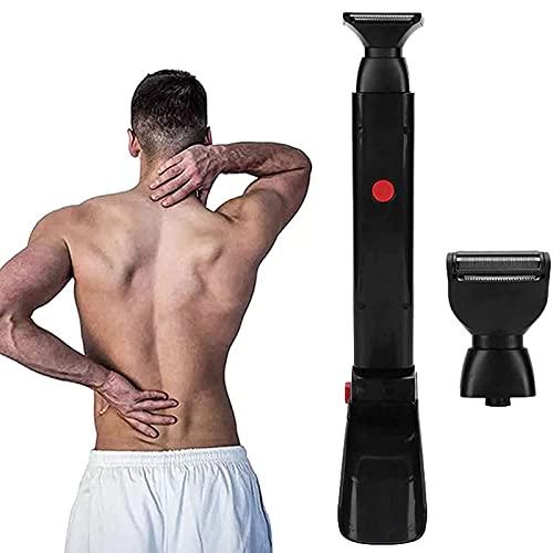 ZXCASD Máquina De Afeitar Eléctrica, Profesional Groomer Body Trimmer Back Razor para Hombres 180 ° Plegable Diseño De Herramienta De Bricolaje