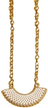 Dissent Free Shipping New Pins RBGx27;s Boston Mall Favorite Necklace Silvertone Collar