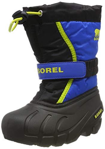 Sorel Unisex-Kinder-Winterstiefel, CHILDRENS FLURRY, Schwarz (Black, Super Blue), Größe: 29