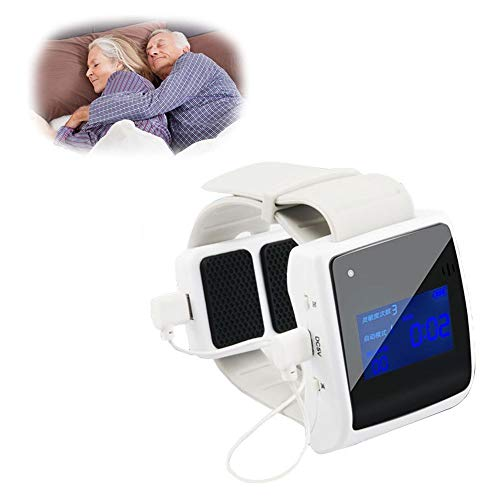 XRZS Infrared Intelligent Snore Stopper, Wrist Mounted Bio-Sensor, LCD Magnetic Anti Snore for Sleep Improvement Aid Effectively to Stop Snoring (USB Charging)
