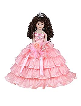 Kinnex Collections by Amanda 18  Porcelain Quinceanera Umbrella Doll  Quince Anos ~Coral~ KK18729-12