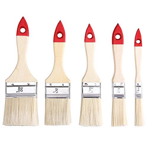 30x Malerpinsel Set 5 verschiedene Größen Holz Flachpinsel Lasurpinsel Farbpinsel Lackpinsel Pinselsatz Streichen