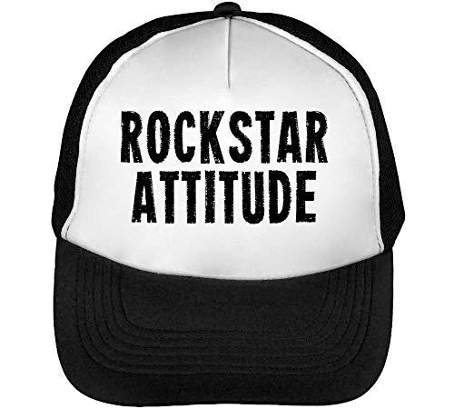Rockstar Funny Black Fashioned Slogan Gorras Hombre Snapback Beisbol Negro Blanco