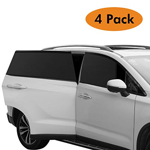 2PCS REACHS Car Sun Shade Vehicle Window for Women Pet Breathable Mesh Sun Shield from UV Rays Fits Most SUVs and Cars Front Side Window Shade