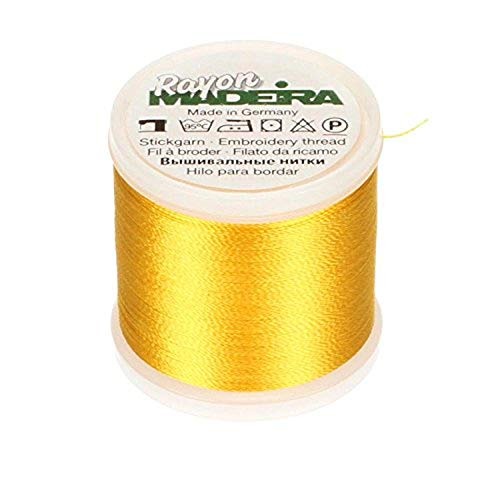 Madeira Rayon Thread Size 40 200 Meters-Yellow