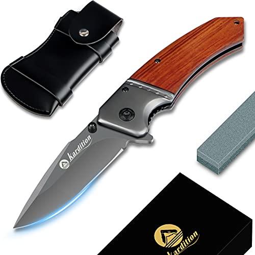 klappmesser outdoor3-in-1 - messer outdoor- survival messer[aus Edelstahl] [440C] - taschenmesser mit messer schleifstein & knife sharpener