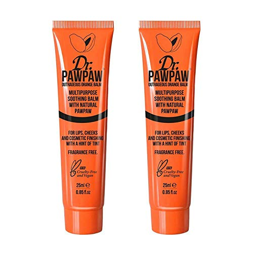 Dr.PAWPAW Outrageous Orange Balm Duo Pack, 1 Pack (2 x 25 ml)