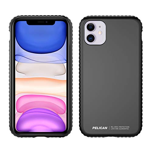 Pelican iPhone 11 Case, Guardian Series - Military Grade Drop Tested - TPU, Polycarbonate Protective Case for Apple iPhone 11 (Black)
