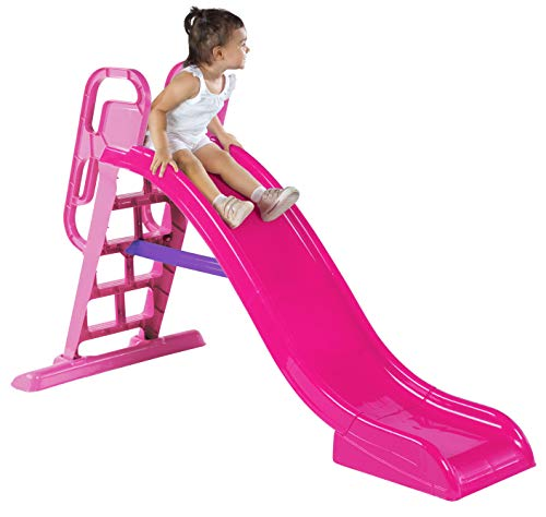 Keny Toys BIG Outdoor Kids Water Garden Slide 190 cm | Children slide activity of toys Free-standing children slide PINK Made in EU