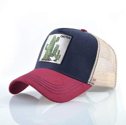 Gorras de algodón Unisex para Hombres Gorra de béisbol Gorras de Camionero de Malla Transpirable para Mujer-Cactus RD1