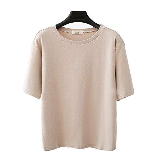 Camisetas de algodón para Mujer Media Manga Otoño O-Cuello a Rayas Camiseta Femenina Mujer Blanco Negro Casual Básico Clásico Tops Ropa