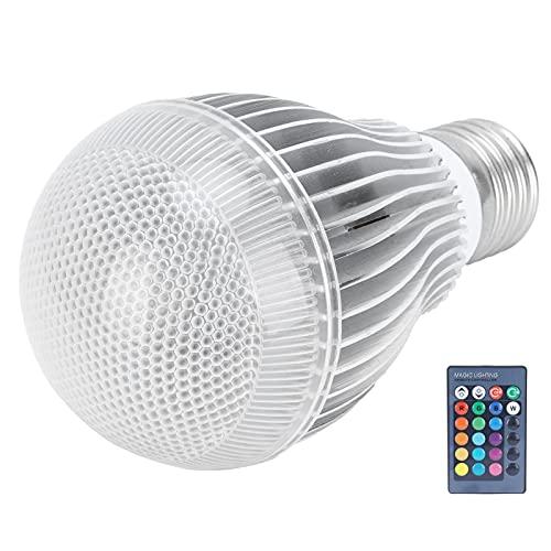 Luz de control remoto inteligente, iluminación decorativa, bombilla que cambia de color RGB, luz de decoración del hogar para dormitorio, fiesta