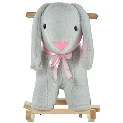 Home & More Useful Durable New Charming Indoor Childrens Swaying Rabbit Animal Chair Play Toy for Kids 18-36 Months Old