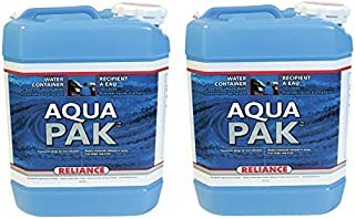 Reliance Products Aqua-Pak 2.5 Gallon Rigid Water Container (Pack of 2)