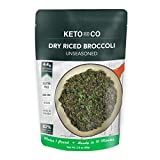 Dry Riced Broccoli by Keto and Co | Unseasoned | Just 4.4g Net Carbs Per Serving | Gluten free, Vegan, Non-GMO, Diabetic Friendly | (5 Servings-Makes 1 Pound)