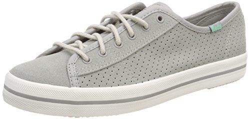 Keds Damen Kickstart Perf. Suede Drizzle Sneaker, Grau (Grey), 37 EU