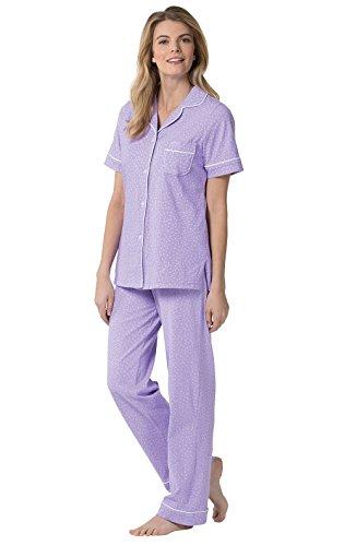 PajamaGram Womens PJs Sets - Womens Pajamas, Lavender, MD