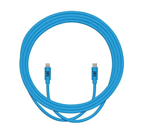 Juice Apple Lightning to Type C 2m Charger and Sync Cable for Apple iPhone 12, 12 Mini, SE, 11, XS, XR, X, 8, 7, 6, 5, iPad, Pro, Air, Mini, Airpods Pro - Aqua