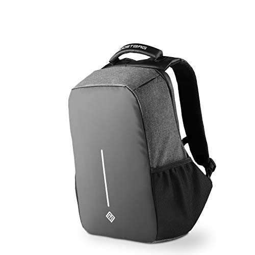 BoostBag XL Anti Theft Backpack - Boostboxx Anti Diebstahl Rucksack mit Fächern für Reisepass, Kreditkarte mit RFID Schutz, 17