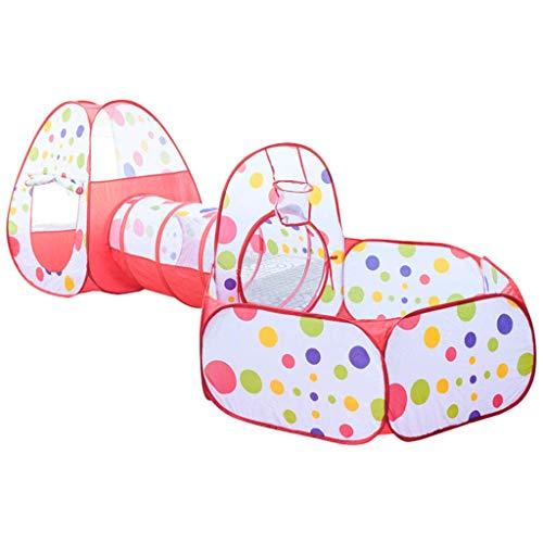 NBVCX Life Accessories - Carpa para niños de 3 Piezas, túnel de Juego emergente, Carpa de Juego de Piscina de Bolas oceánicas, Parque Infantil Interior/Exterior, Adecuado para niños y niñas