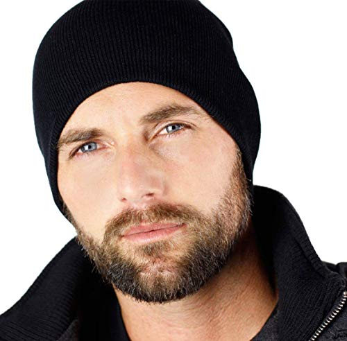 Everything Black 9' Skull Cap Beanie That Will Fit Your Head Perfect Black