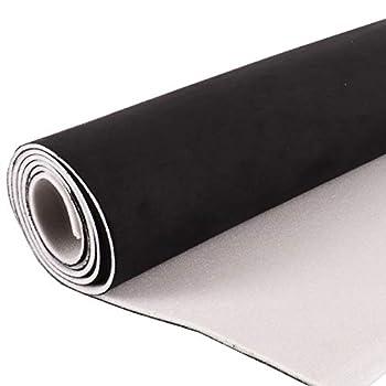 Suede Headliner with Foam Backing Material - 24 ×60  Black Microsuede Automotive Home Headliner Repair Fabrics Sold by 60  Width