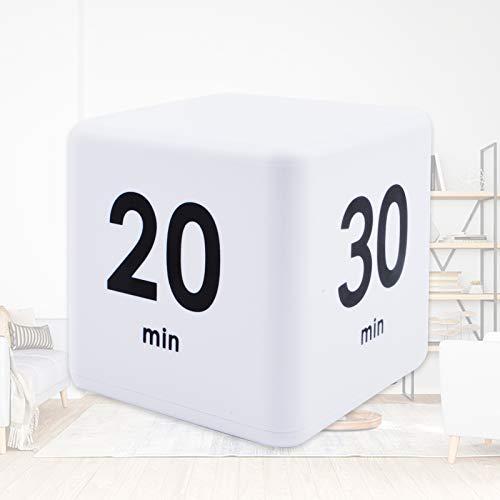Cube Timer, Digital Kitchen Timer, Child Timer Exercise Timer Gravity Sensor flip Timer, Magnetic Countdown Timer, Clock Timer for Cooking, Classroom, Bathroom, Teachers, Kids (15-20-30-60 Minutes)