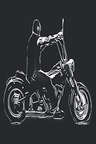 Motorrad Notizbuch 150 Blanko Seien ca A5: Blanko