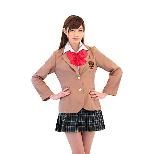 A&T Collection Women's Japanese High School Blazer Uniform Brown One Size