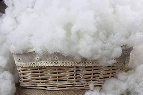 Acomoda Textil - Fibra Hueca Siliconada 100% Poliéster, Saco de Tela Relleno de Microfibra para Rellenar Cojines, Peluches y Almohadas. (1kg)