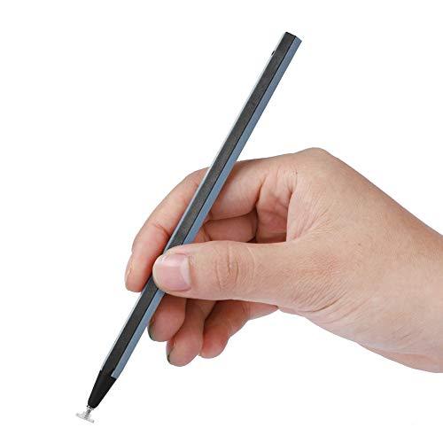 Tonysa - Pennino universale per scrittura a mano con lunghezza di 158 mm, pennino capacitivo per iPad, telefono, tablet, colore: nero e bianco