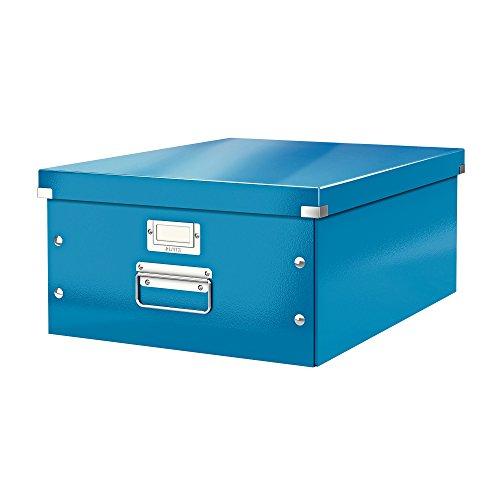 Leitz, Große Aufbewahrungs- und Transportbox, Blau, Mit Deckel, Für A3, Click & Store, 60450036