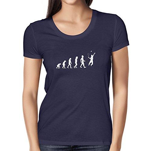 Texlab Badminton Evolution - Damen T-Shirt, Größe S, Dunkelblau