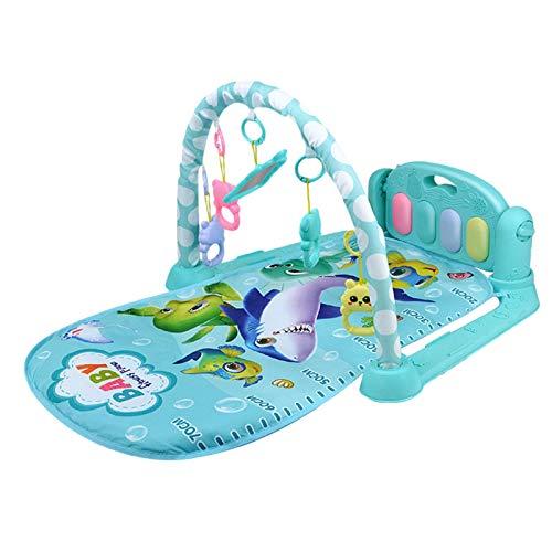 YDLYA Baby Play Mat Activity Gym con Juguetes Colgantes Kick and Play Piano Gym Mat con música y Luces para bebés y niños pequeños
