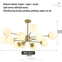 ZT-TTHG モダンシャンデリア真鍮現代家創造的な装飾リビングルームダイニングルームの寝室 (Lampshade Color : 6 plus 6 Lamps, Size : 110V)