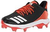 Adidas Icon Bounce TPU da uomo, Nero (Nero/Bianco/Arancione Collegiate), 37 EU