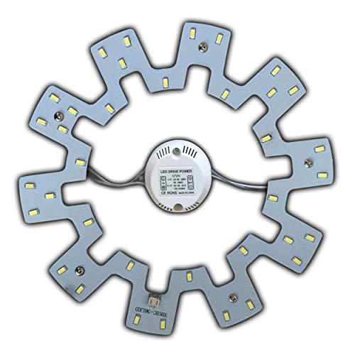 Module LED – Kit de transformation (intensité variable/non variable) pour plafonnier - Anneau lumineux - Plafonnier rond - Lampe tube (blanc chaud/lumière du jour) 18 W, blanc lumière du jour.