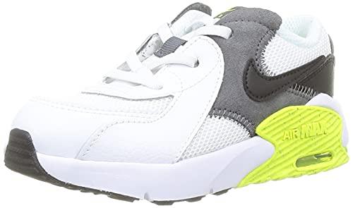 Nike Air MAX Excee, Zapatillas Deportivas Unisex niños, White Black Iron Grey Volt, 18.5 EU