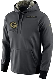 54b8e640e Nike 2016 Green Bay Packers Salute to Service Hoodie Large -Runs a 1/2