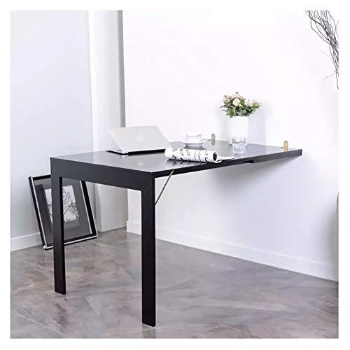 Mesa plegable para colgar en la pared, mesa flotante de madera maciza,...