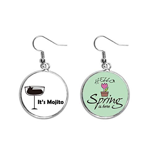 Mojito With Its Cup Art Deco Gift Fashion Decoration Dangle Season Spring Earring Jewelry