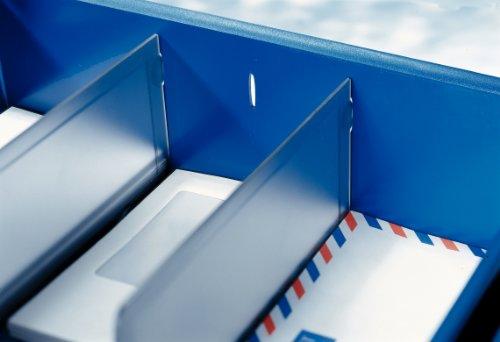 Leitz 52620000 Trennwand für Briefkorb, Polystyrol, 2 Stück, grau-transparent