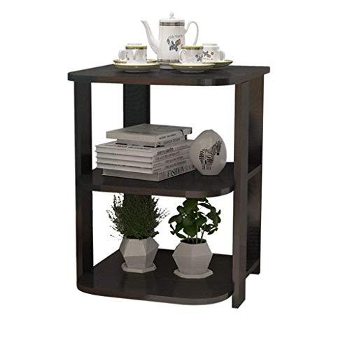 Effen houten bijzettafel, moderne minimalistische woonkamer bank zijkast kast kast nachtkastje eenvoudige kleine salontafel (grootte: 51 * 40 * 40cm) Donker Hout