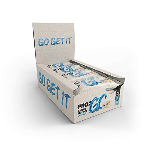PRO 2GO Protein Flapjack Box, High Protein, Coconut, 12 X 50g, 12 Bars