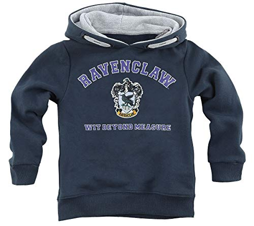 HARRY POTTER Ravenclaw - Wit Beyond Measure Unisex Sudadera con Capucha Azul Marino 116