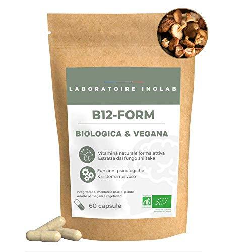 Prima Vitamina B12 Biologica e vegana altamente assimilabile   3 forme naturali Bio e attive di B12   Metilcobalamina Adenosilcobalamina idroxocobalamina   Senza additivi   60 capsule