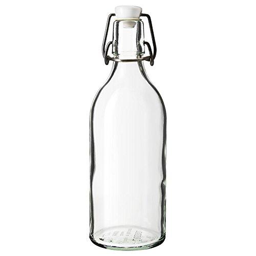 Classic Style Clear Glas mit Stopfen Flasche, transparentem Glas Kanister gebraut Wein, Höhe 28 cm, Durchmesser 8 cm
