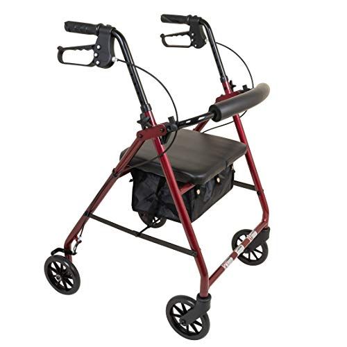 ProBasics Aluminium Light Weight Rollator Walker with Seat