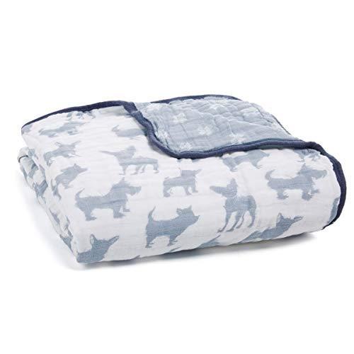aden + anais Dream Blanket | Boutique Muslin Baby Blankets for Girls & Boys | Ideal Lightweight Newborn Nursery & Crib Blanket | Unisex Toddler & Infant Bedding, Shower & Registry Gift, Waverly, Dog