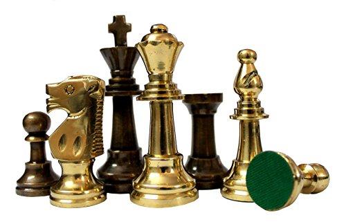Stonkraft 8,9 cm Königshöhe - Sammleredition Messing Schachfiguren Münzen Bauer Staunton Figur Figurenteile